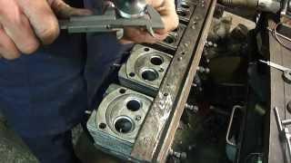 Т - 40. Ремонт головки  ЧАСТЬ 4 : выведение рабочей фаски на седле клапана