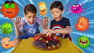 Rafael e história infantil sobre vírus malvado | детские истории про вирусы -Brincando com o Rafael