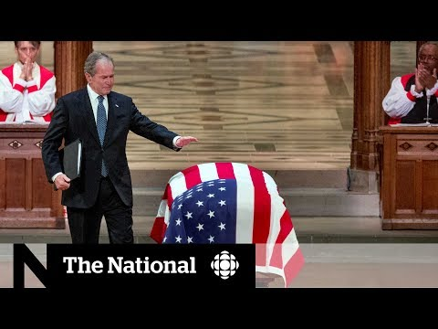 World leaders meet at George H.W. Bush's funeral