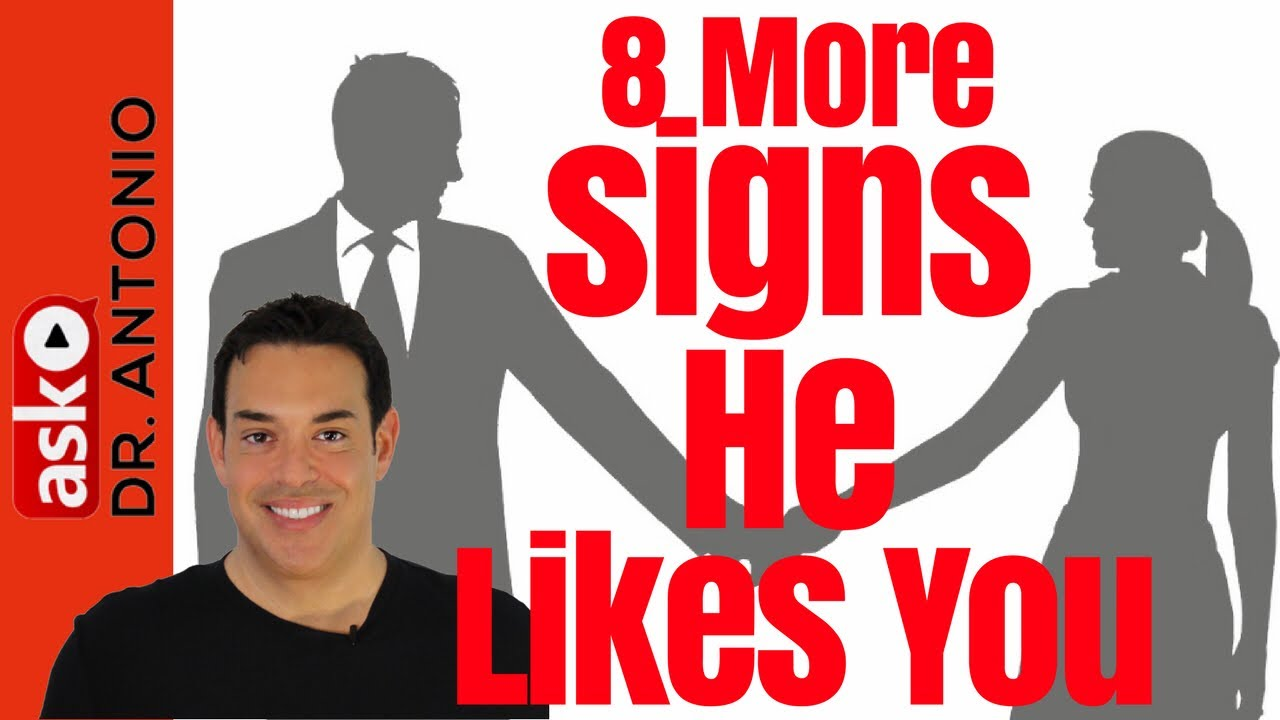 flirting signs he likes you tube like youtube video