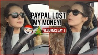 B!TCH BETTER HAVE MY MONEY! + ORDERING A NEW PURSE | VLOGMAS DAY 1 2015