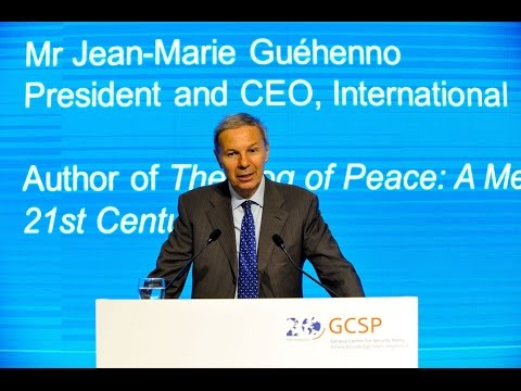 Jean-Marie Guéhenno (Crisis Group) addresses GCSP Conference