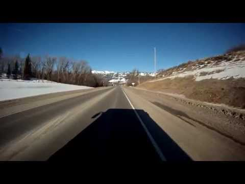 Driving through Jackson Hole to Teton Village (Jackson Hole Mountain Resort)