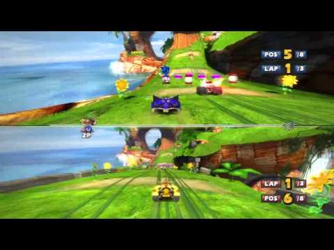 Sonic & Sega All-Stars Racing Split Screen