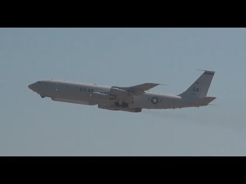 E-8 JStars & Heavy C-5B Takeoff Roll- Warner Robins AFB Airshow 4/28/12 (**HD**)