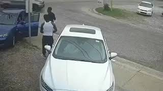 Surveillance footage of Alabama Rapper HoneyKomb Brazy getting shot on live