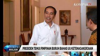 Presiden Jokowi Temui Pimpinan Buruh Bahas UU Ketenagakerjaan