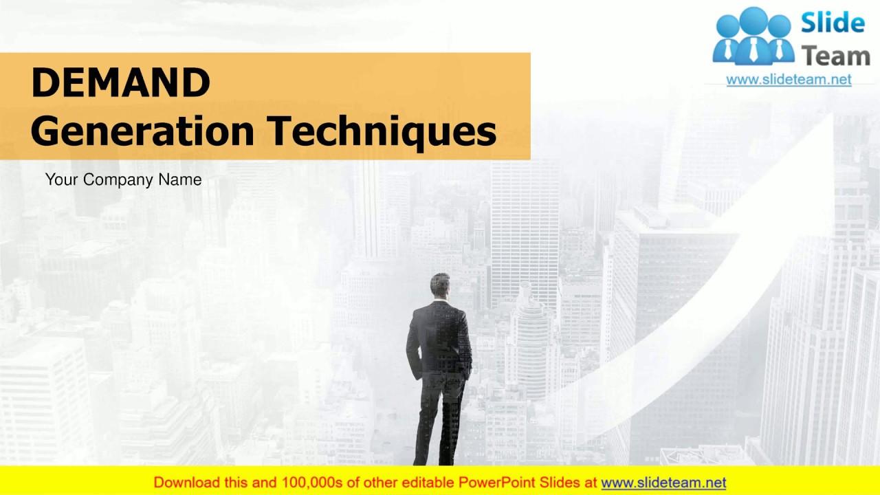522b44c47363 Demand Generation Techniques PowerPoint Presentation Slides - YouTube