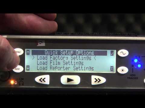 Sound Devices 722 Recorder Basics