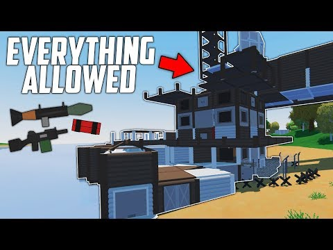 Unturned PURGE DAY! EVERYTHING allowed for ONE DAY! - Unturned Purge  #1 (New Base Raid Series)