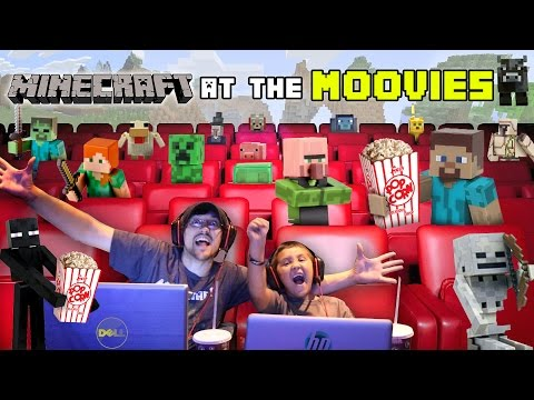 MINECRAFT at the MOVIES!  Time to Battle w/ SUPER LEAGUE GAMING (Movie Theater FGTEEV Fun)