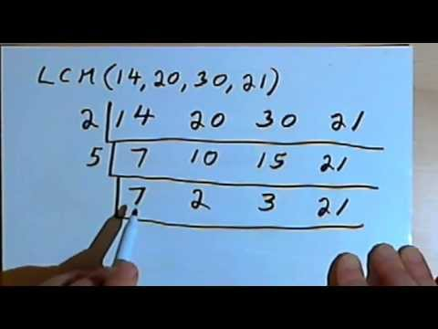 finding the lcm of 3 or more numbers 127 2 22 youtube