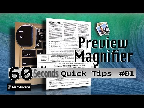 How To Use Preview Magnifier in OS X Mavericks - QT#1
