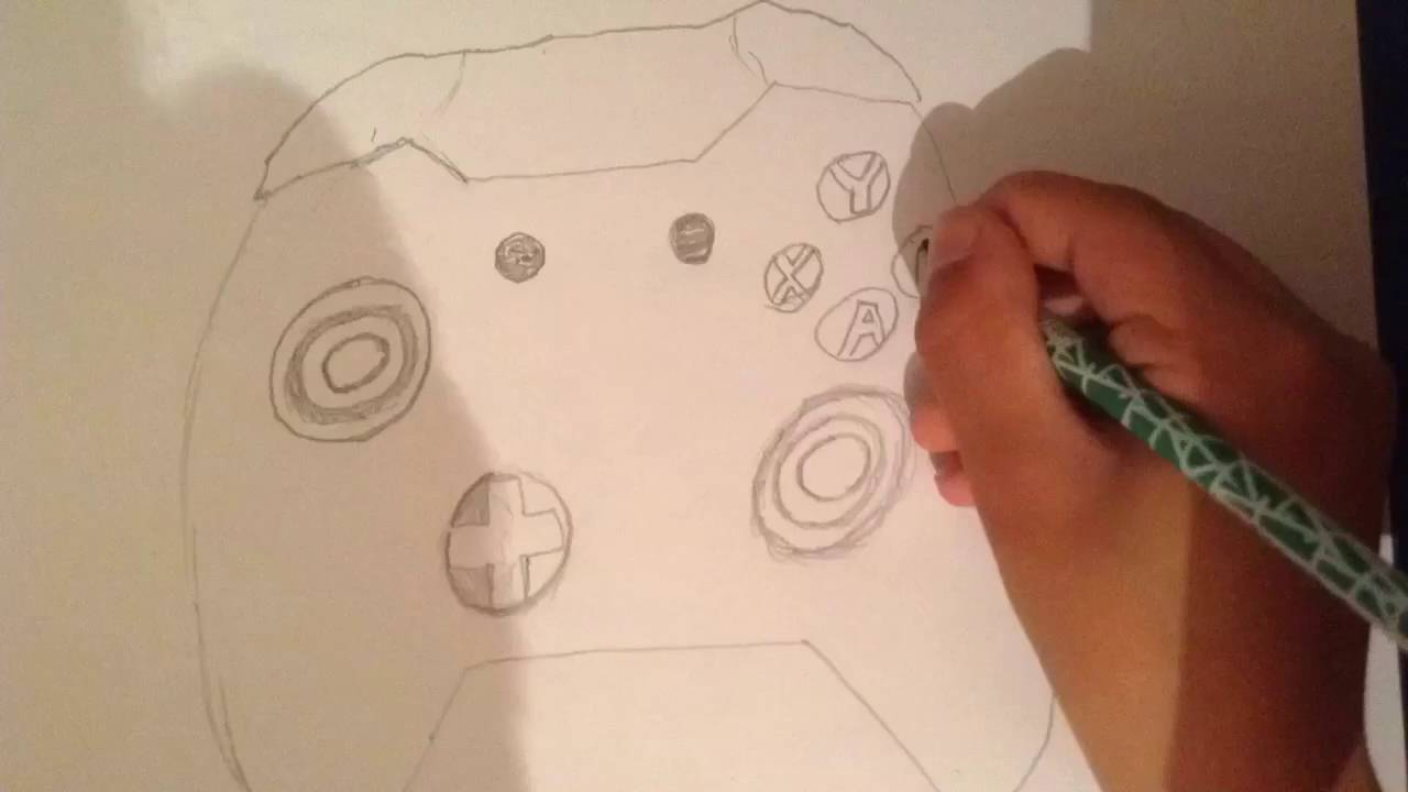 Drawing An Xbox One Controller Youtube