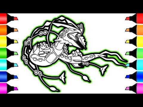 Pokemon Coloring Pages Mega Rayquaza I Fun Colouring Videos For Kids Youtube