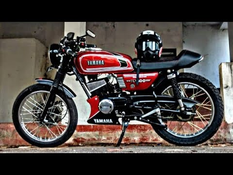 Customized Yamaha Rx100   Full Modified   Cafe racer   Total Modification