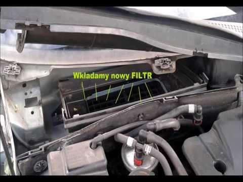 Wymiana Filtra pyłkowego-kabinowego Ford Focus MK1 Replacement of air filter