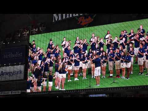 Astros vs Angels - Oakridge High School Band National Anthem  08-23-19