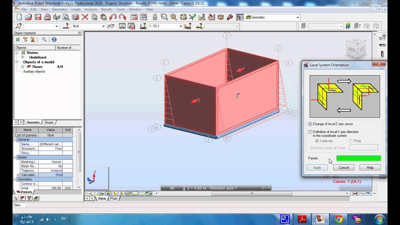 water tank analysis by Robot structural analysis