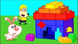 Wolfoo Builds Colored Lego House for Rabbit | Wolfoo Family Kids Cartoon