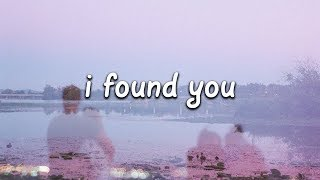 Benny Blanco & Calvin Harris - I Found You (Lyrics)