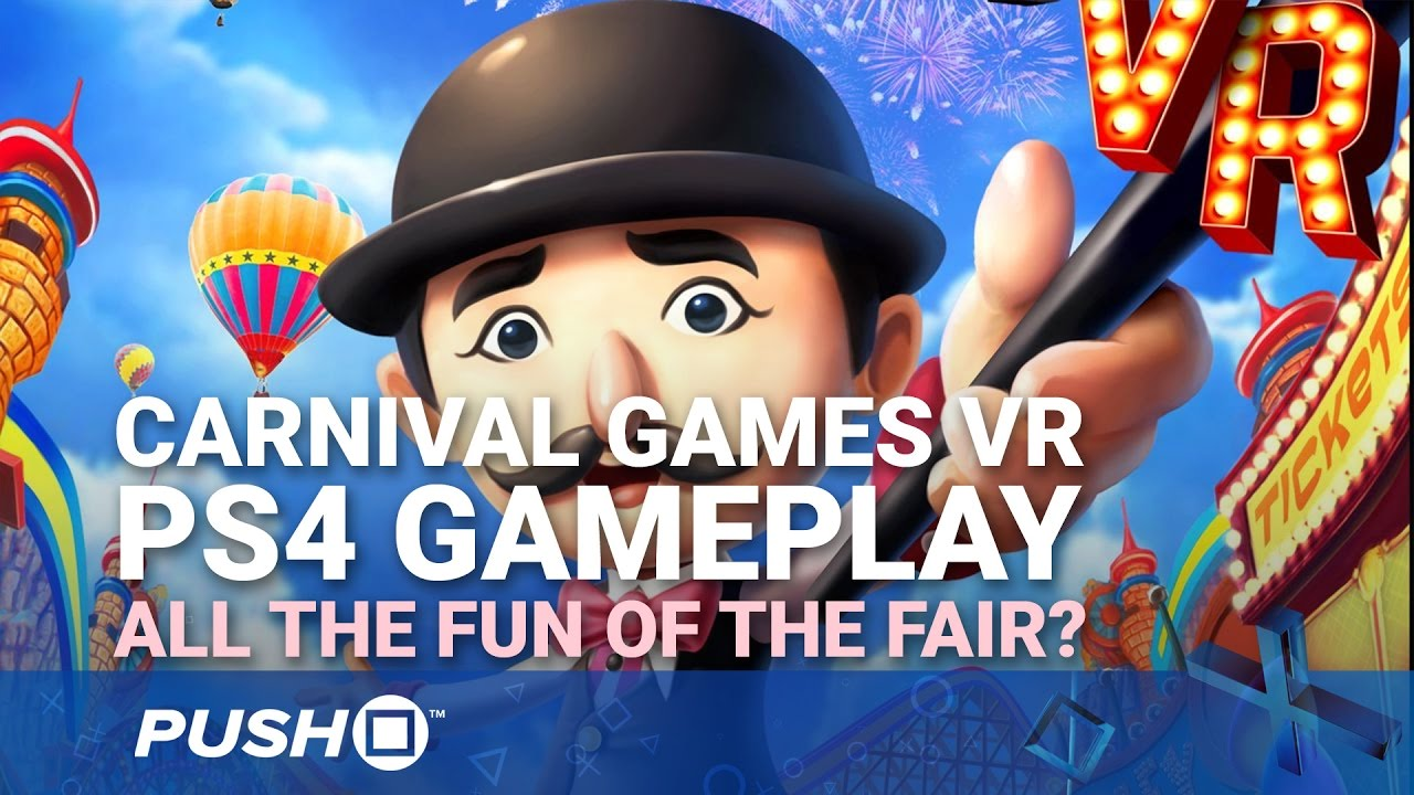 Carnival Games VR PS4 Gameplay: All the Fun of the Fair? | PlayStation 4 |  Footage
