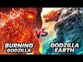 Burning Godzilla Vs Godzilla Earth / Who is more powerful / Godzilla Vs Kong