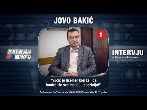 INTERVJU: Jovo Bakić - Vučić je licemer koji želi da kontroliše sve medije i opoziciju! (06.12.2017)