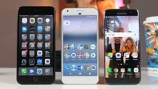 iPhone 7 Plus vs S7 Edge vs Google Pixel XL Review - The Best Smartphones of 2016?