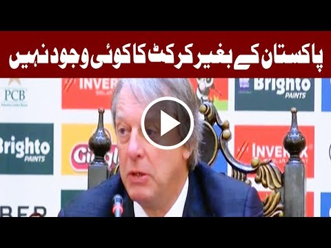 Cricket is glad to be back in Pakistan - ICC Director Giles Clarke