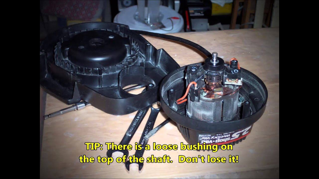 Shop Vac Model 7025 Motor Disassembly No Audio Youtube