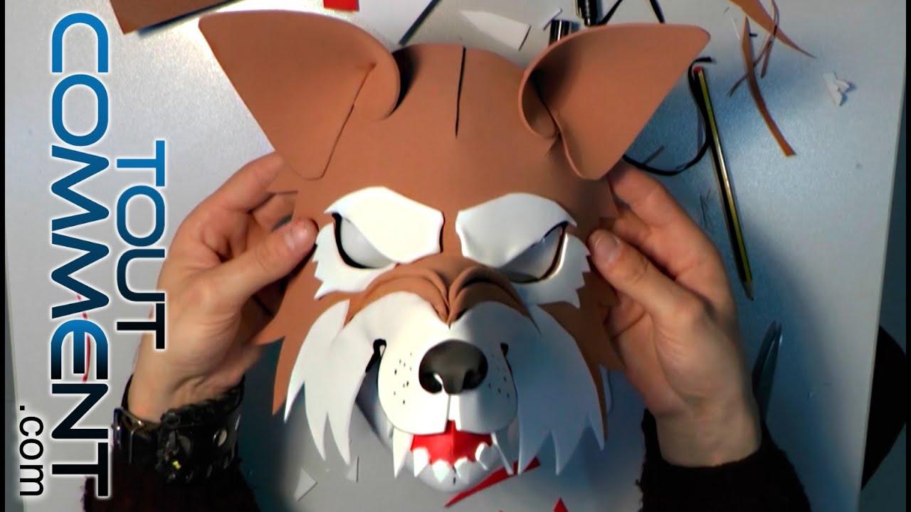 Faire un masque de loup youtube - Masque halloween a fabriquer ...