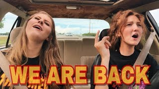 our final goodbye to toys r us + CARPOOL KARAOKE!! : Driving with Bella and Allie