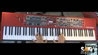 Clavia Nord Stage 2 Demo part 1 performed by space4keys s4k tv rhodes piano synth