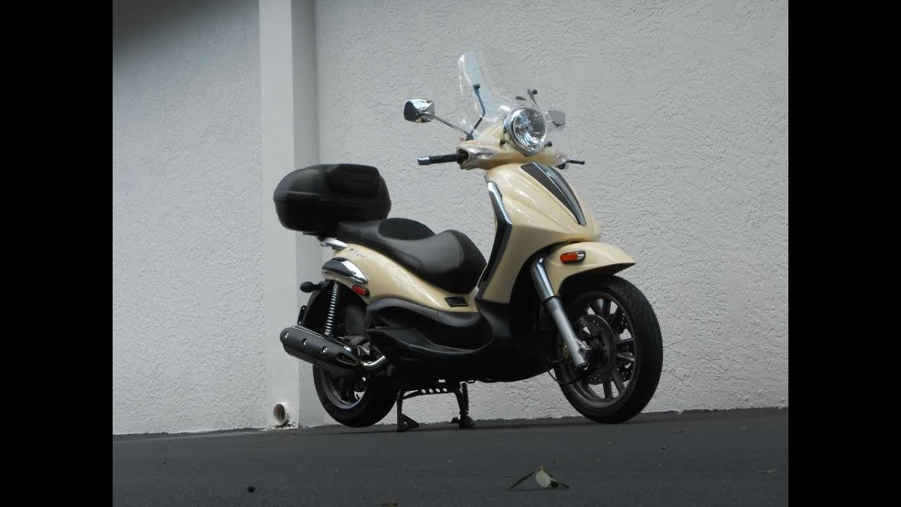 2009 piaggio bv tourer 500 ride video gulf coast motorcycles - youtube