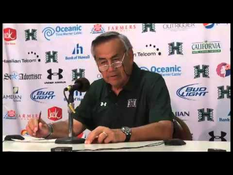 Norm Chow Post Game Press Conference UH vs. Lamar 9-15-12