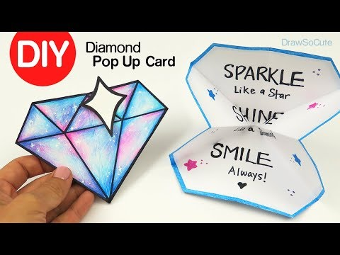 How to Make a Diamond Pop Up Card | DIY Paper Craft