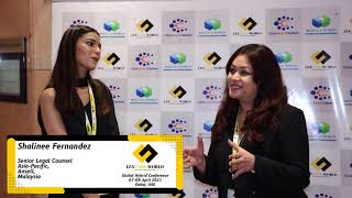 Ms. Shalinee Fernandez sharing her thoughts on the LexTalk World Conference, Dubai 2021