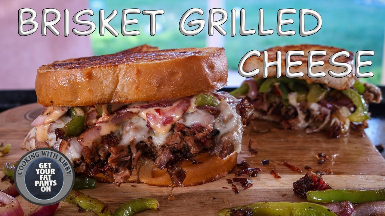 (338) Brisket Grilled Cheese Sandwich - 36 inch Blackstone Griddle - YouTube