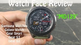 Watch Face Review : MD129 Samsung Galaxy Watch Gear S3 Gear Sport Gear S2