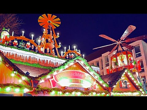 4K Germany Stuttgart 2015 Dez. Weihnachtsmarkt Christmas market Рождественская ярмарка Travel LX100