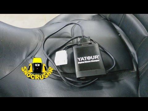 Installing a Yatour digital music changer, Goldwing GL1800 #diy