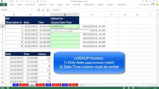 Excel Magic Trick 1192: Match Lookup Value to Closest Number in 1st Column of Lookup Table