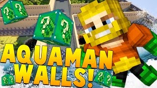 AQUAMAN SUPERHERO WALLS PVP LUCKY BLOCK CHALLENGE! Minecraft - Lucky Block Mod