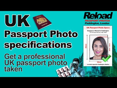UK Passport Photo, Digital And Biometric Passport Photo Snapped At Reload Internet In Paddington