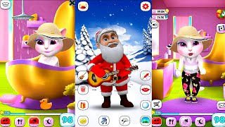 My Talking Angela Vs Santa Claus Great Makeover Gameplay HD