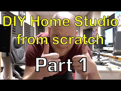 DIY Home Studio from scratch on a tight budget Part 1 (Studi