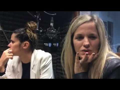 Sofia Elliot y Valentina Godfri en el programa de radio Uno en el amor