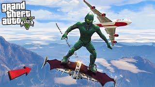 GREEN GOBLIN DESTROYS PLANE - GTA 5 Mods