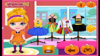Baby Barbie Halloween Shopping Spree Cartoon Video Game For Kids